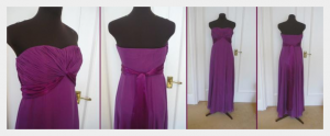 Alterations to bought bridesmaids dresses, for modesty by Felicity Westmacott: dresses 'before' as bought from Monsoon