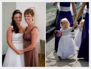 Mother-of-the-bride dress and bridesmaids by Felicity Westmacott