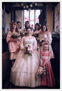 Wedding dress, flowergirl and page boy by Felicity Westmacott
