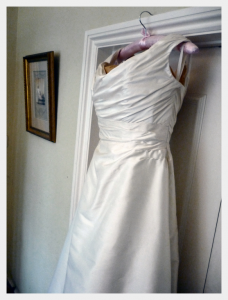 Wedding dress by Felicity Westmacott: finished and ready to go