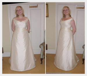 Wedding dress by Felicity Westmacott: pictures from the fitting process
