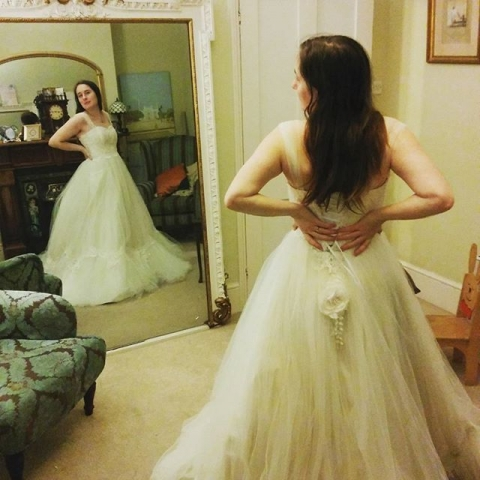 Ivory silk and tulle Wedding dress by Felicity Westmacott