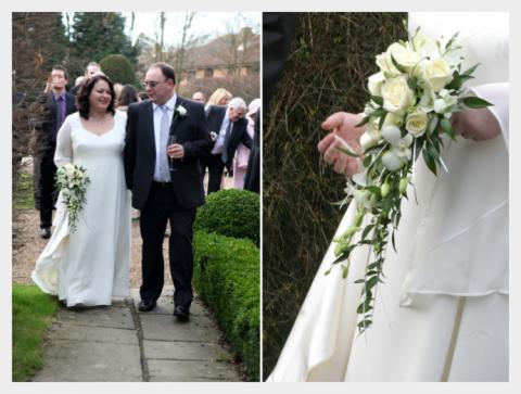 Simple ivory silk wedding dress by Felicity Westmacott