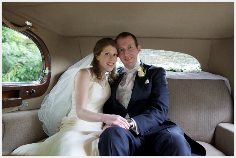 Ivory silk georgette, satin and beaded lace wedding dress by Felicity Westmacott
