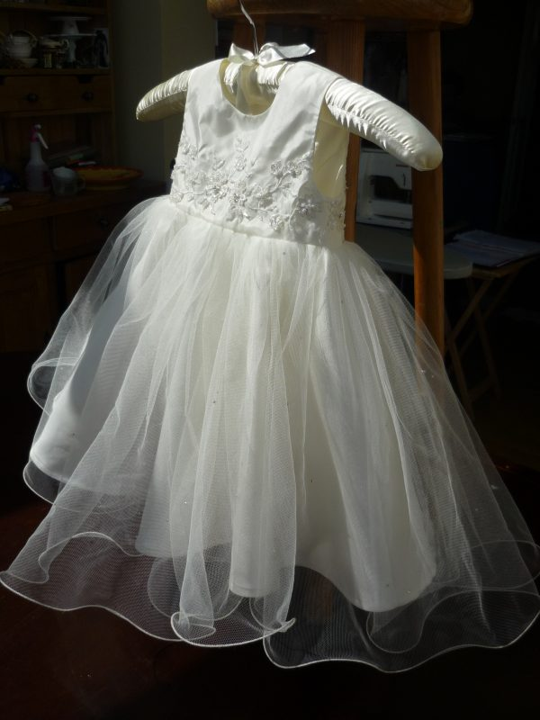 Christening gown made from mummy's wedding dress by Felicity Westmacott