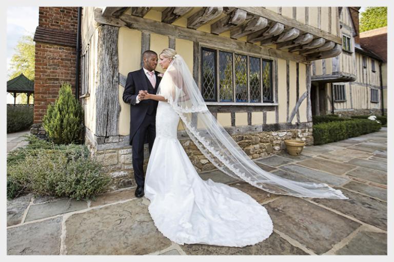 Royal Wedding inspired, matt Ivory Satin wedding dress, with lace applique detail