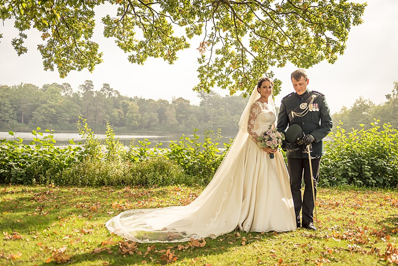 Bespoke ivory lace wedding dress by Felicity Westmacott