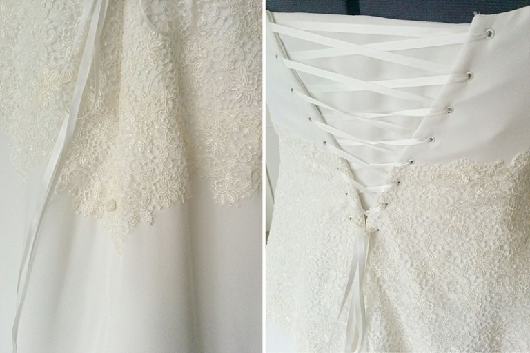 Traditional Silk Georgette And Guipure Lace Wedding Dress For Izzy