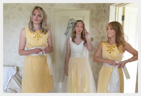 lace overlay teen and adult bridesmaids made to order