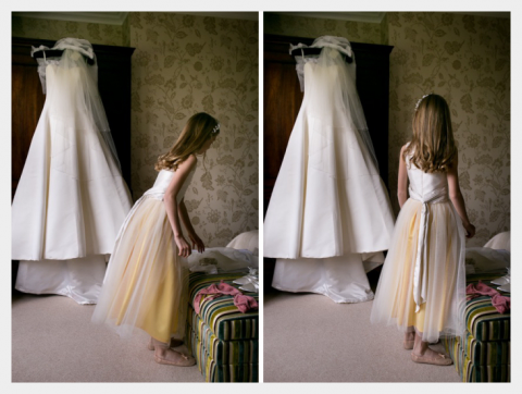 tie sash and tulle skirt flowergirl by felicity Westmacott