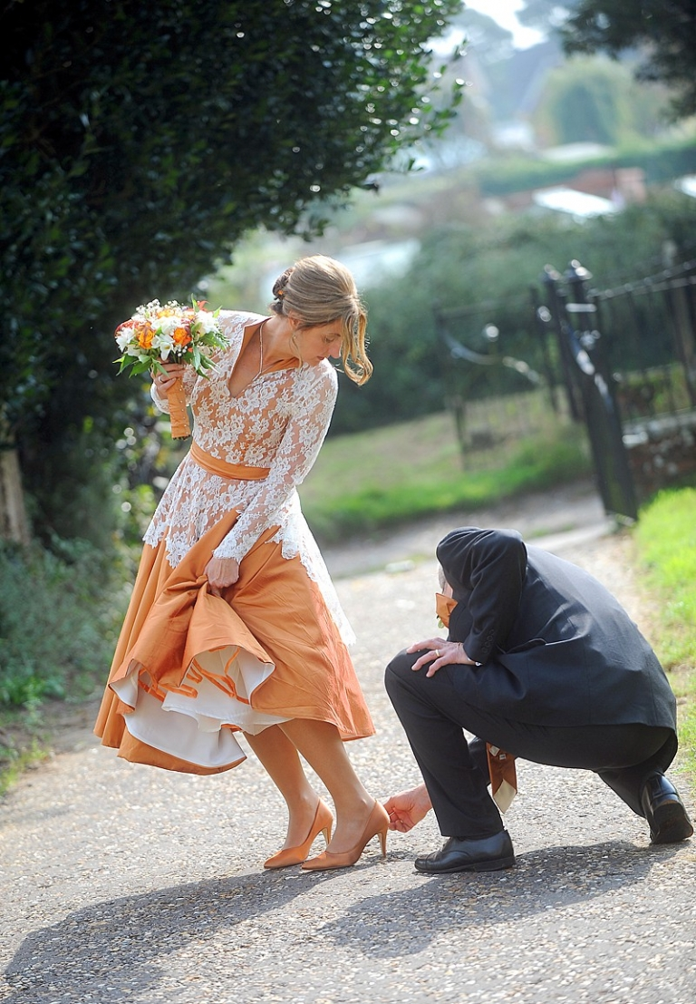candler 4 autumn fall wedding ornage silk dupion short full skirt dress petticoat