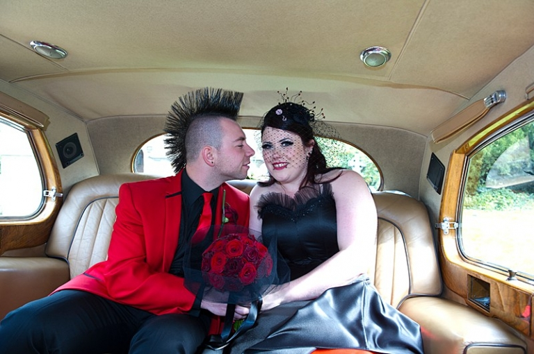 Non Traditional Red Wedding Dresses: Red And Black Corset Goth Wedding Dress For Faye