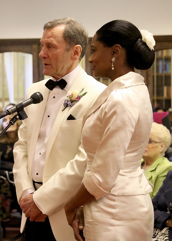 angela 6 shell pink wedding dress and jacket