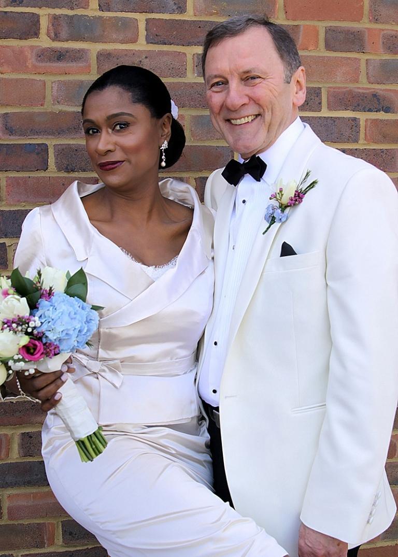 angela 7 alternative wedding dress portrait neckline collar and dress