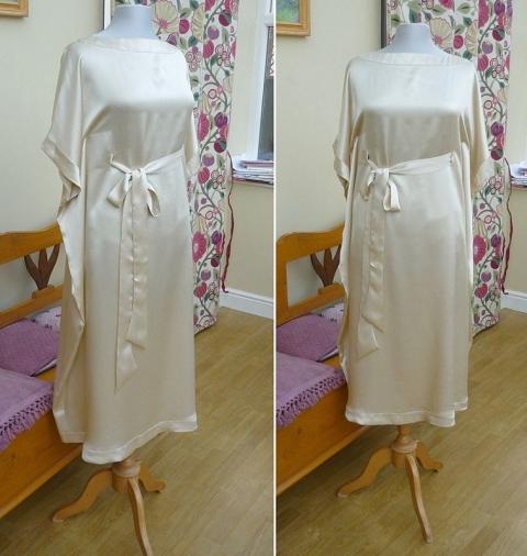 lou 6 buttermilk silk crepe satin bow sash wedding dress