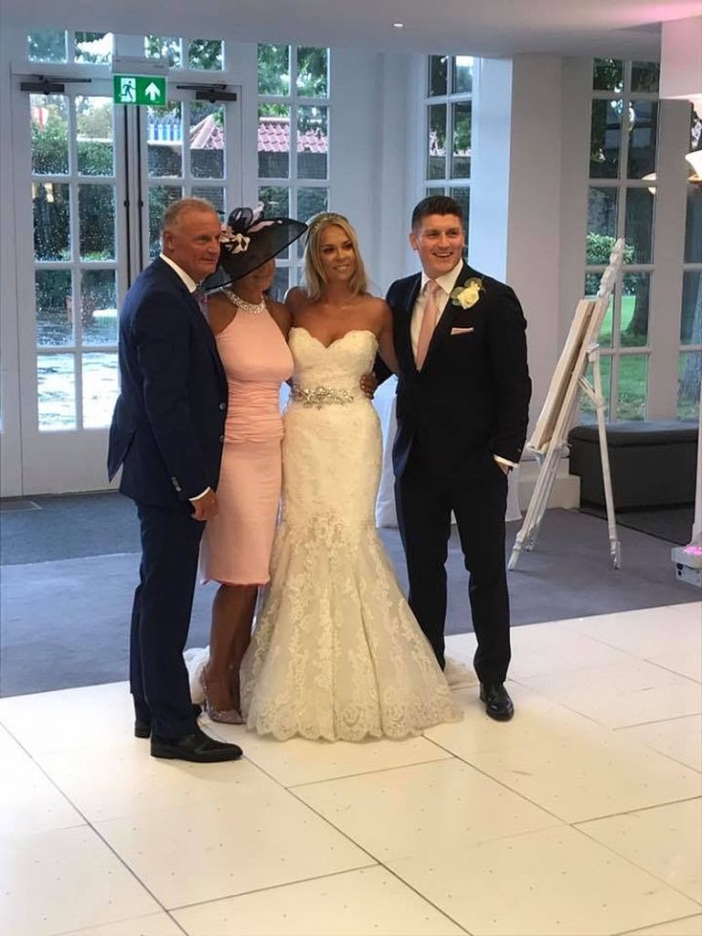 mother of the bride dress in pink silk made to measure