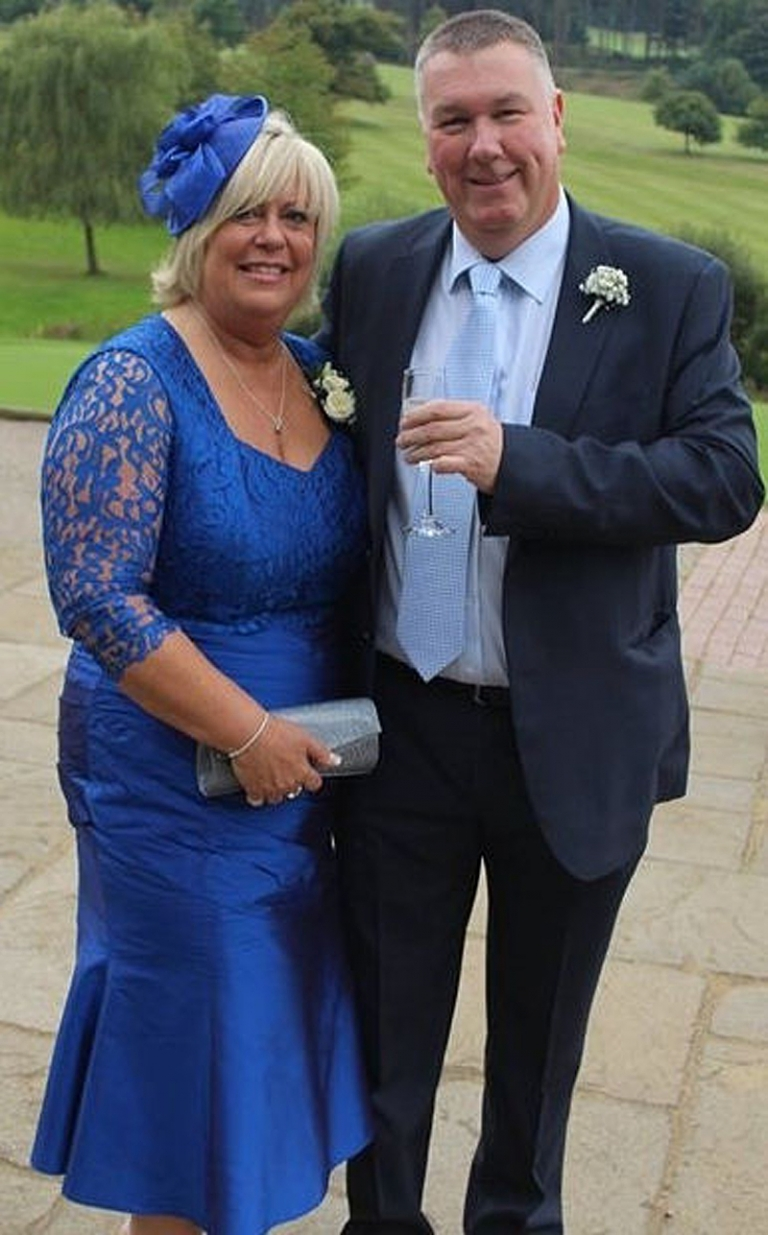 bespoke mother of the bride groom dress in royal blue silk dupion and lace