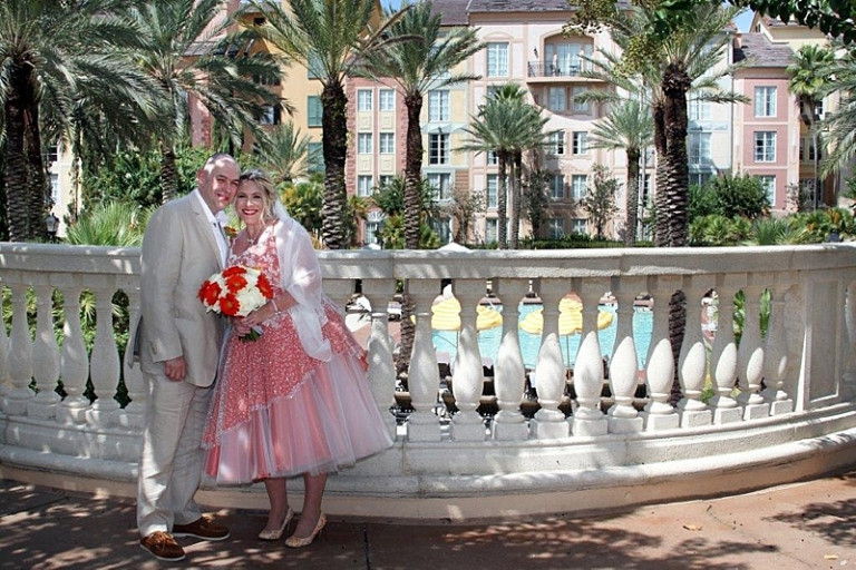 American Florida wedding ornage and ivory made to measure dress
