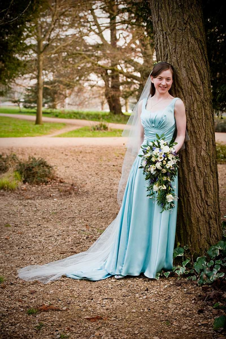 country wedding coloured wedding dress