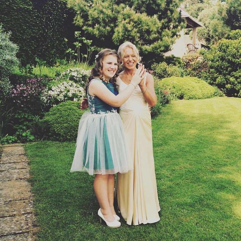 bride and her daughter bespoke dresses