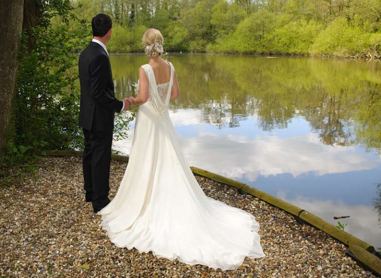 cowl back wedding dress with train silk georgette and satin
