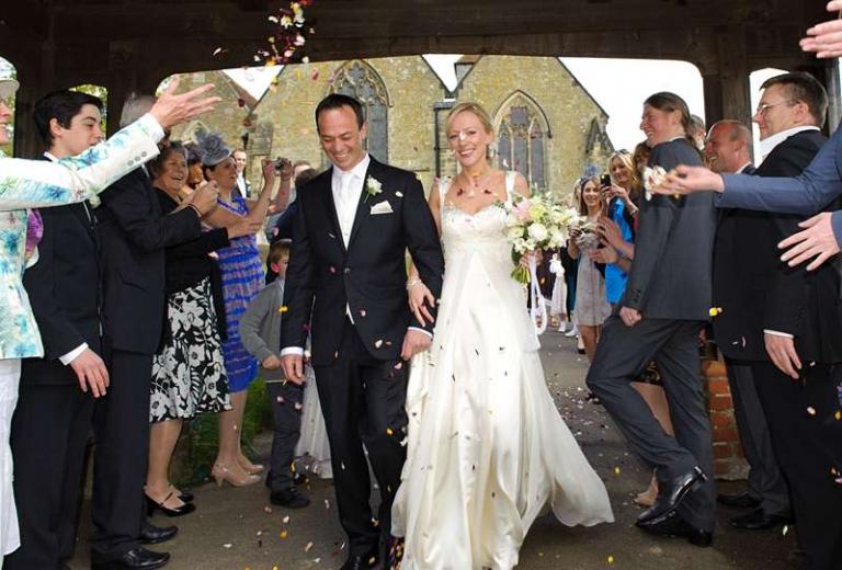 confetti shot bespoke wedding dress princess line