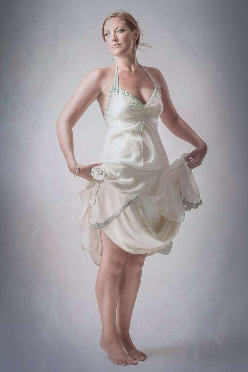 photoshoot silk georgette wedding dress