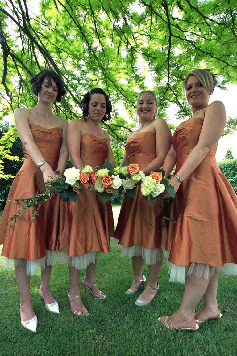 autumn wedding sweetheart neckline bridesmaids dresses made to order