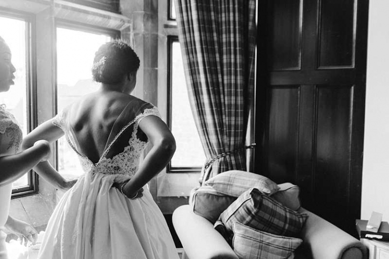 dressing the bride button back wedding dress