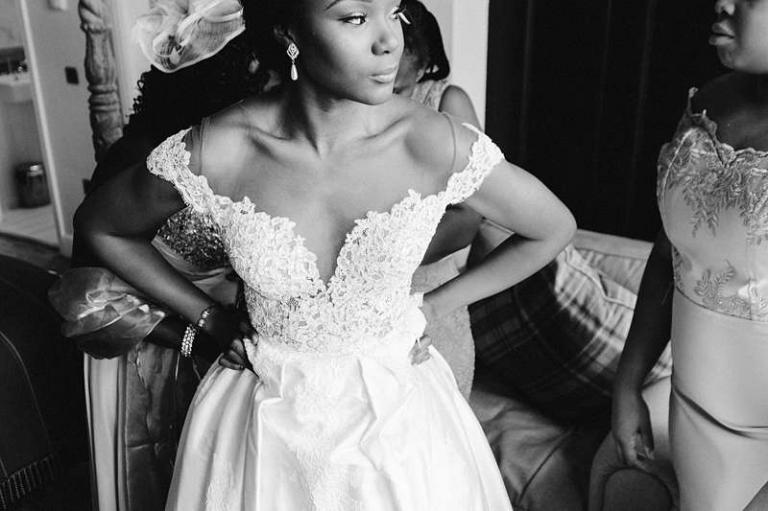 custom made wedding dress ivory silk and lace