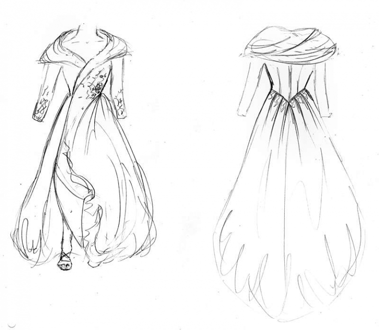 original wedding coat dress design by Felicity Westmacott